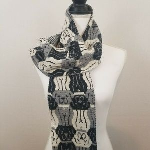 Green 3 Fashion Scarf Puppy Dogs Gray Navy White